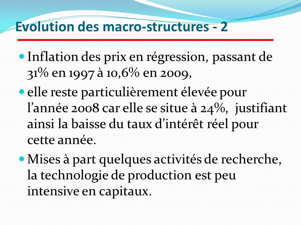 Evolution des macro-structures - 2