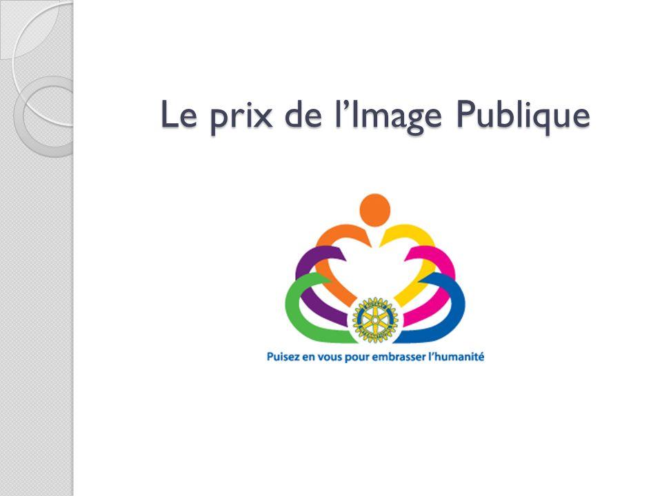 Le prix de l'Image Publique