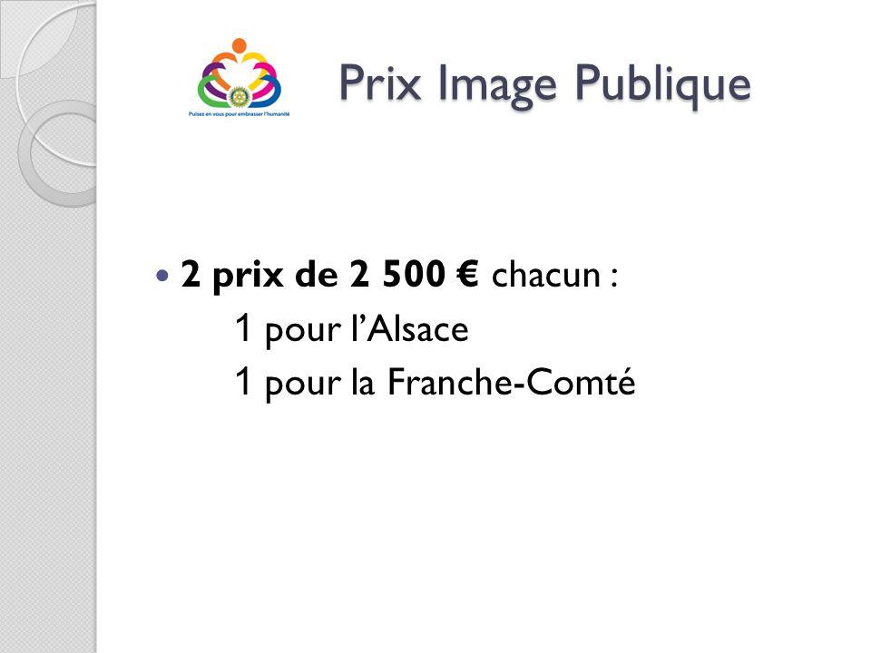 Prix Image Publique 2 prix de 2 500 € chacun : 1 pour l'Alsace