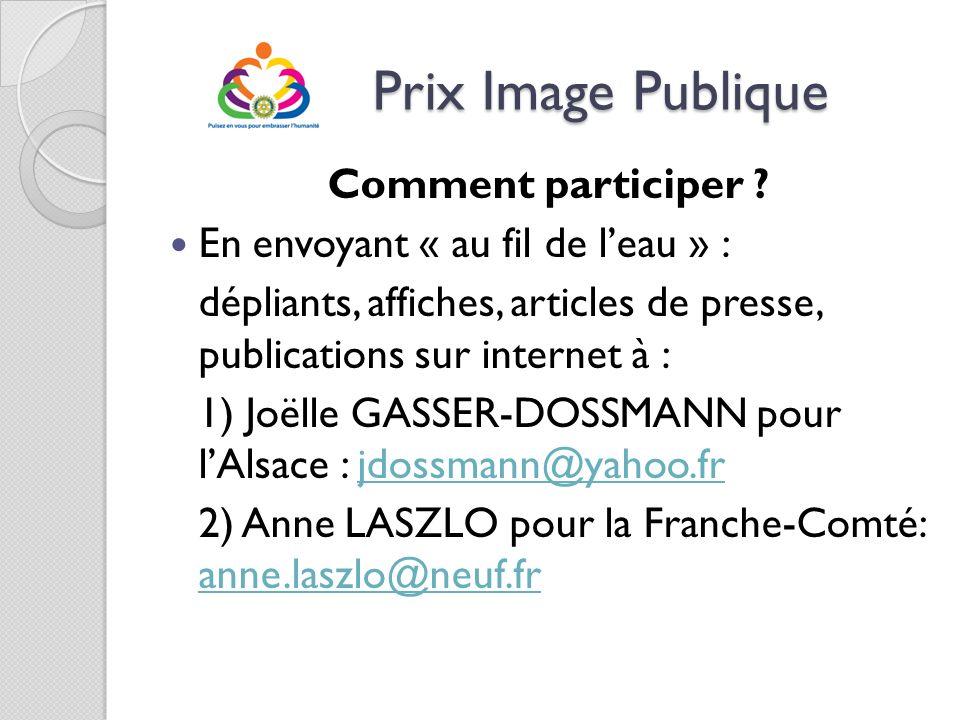 Prix Image Publique Comment participer