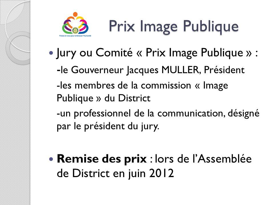 Prix Image Publique Jury ou Comité « Prix Image Publique » :