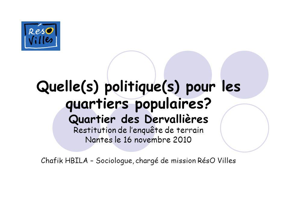 Quelle(s) politique(s) pour les quartiers populaires