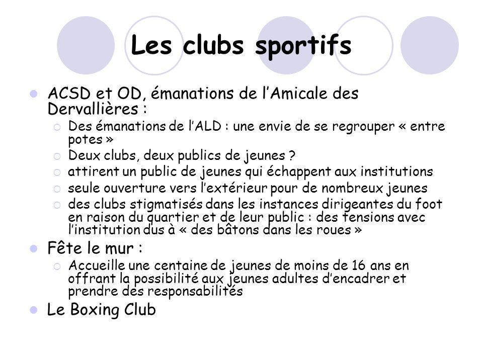 Les clubs sportifs ACSD et OD, émanations de l'Amicale des Dervallières : Des émanations de l'ALD : une envie de se regrouper « entre potes »