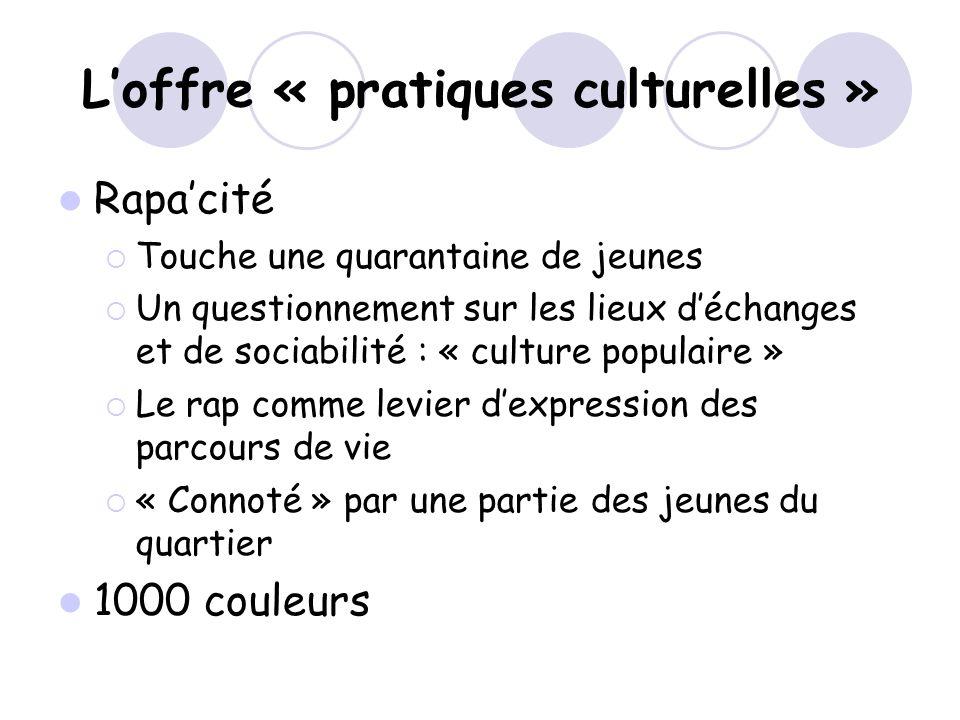 L'offre « pratiques culturelles »