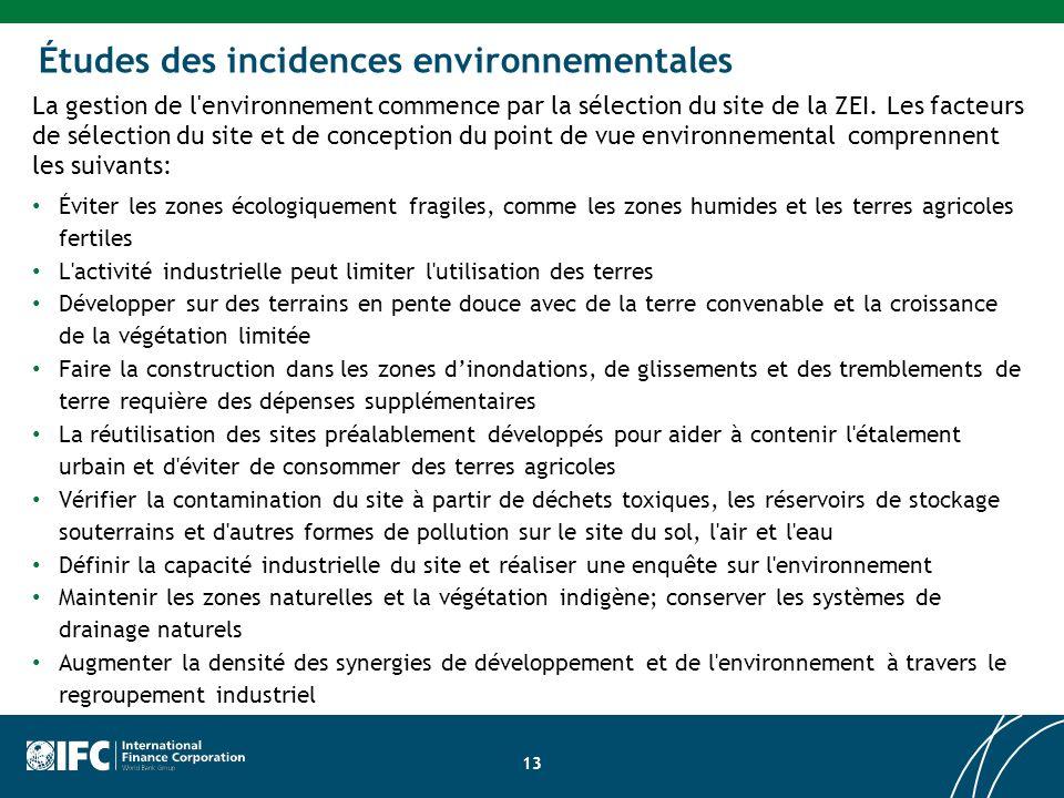 Études des incidences environnementales