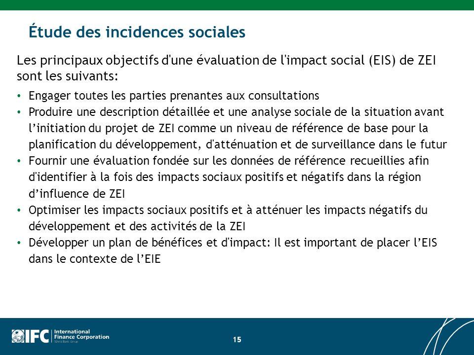 Étude des incidences sociales