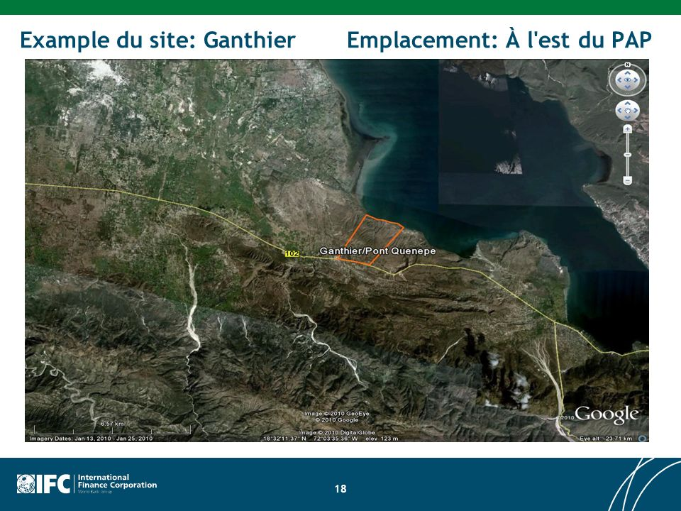 Example du site: Ganthier Emplacement: À l est du PAP