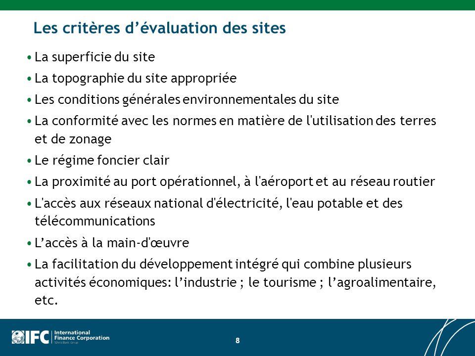 Les critères d'évaluation des sites