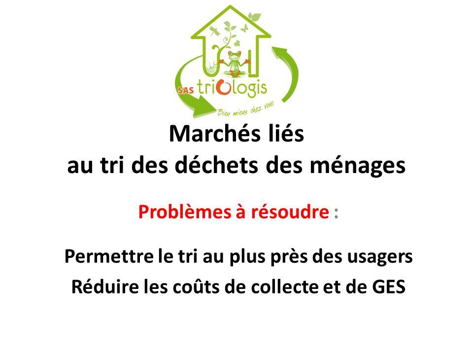 Marchés liés au tri des déchets des ménages
