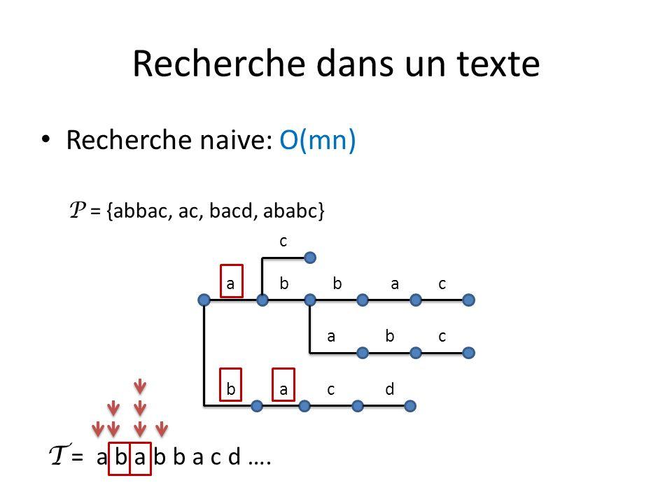 Recherche dans un texte