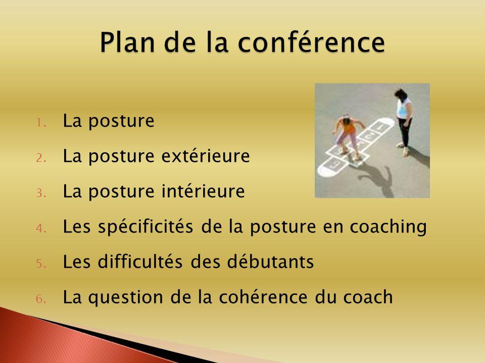 Plan de la conférence La posture La posture extérieure