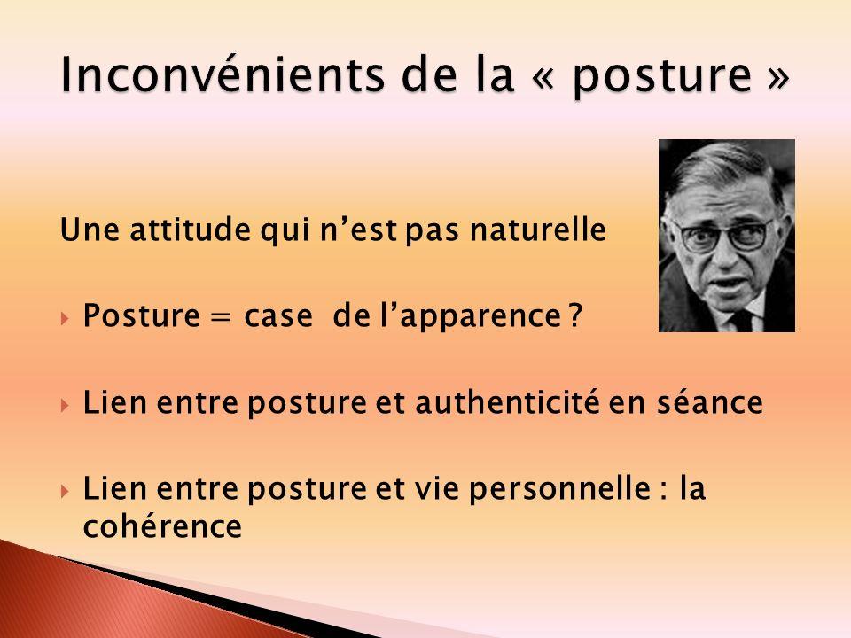 Inconvénients de la « posture »