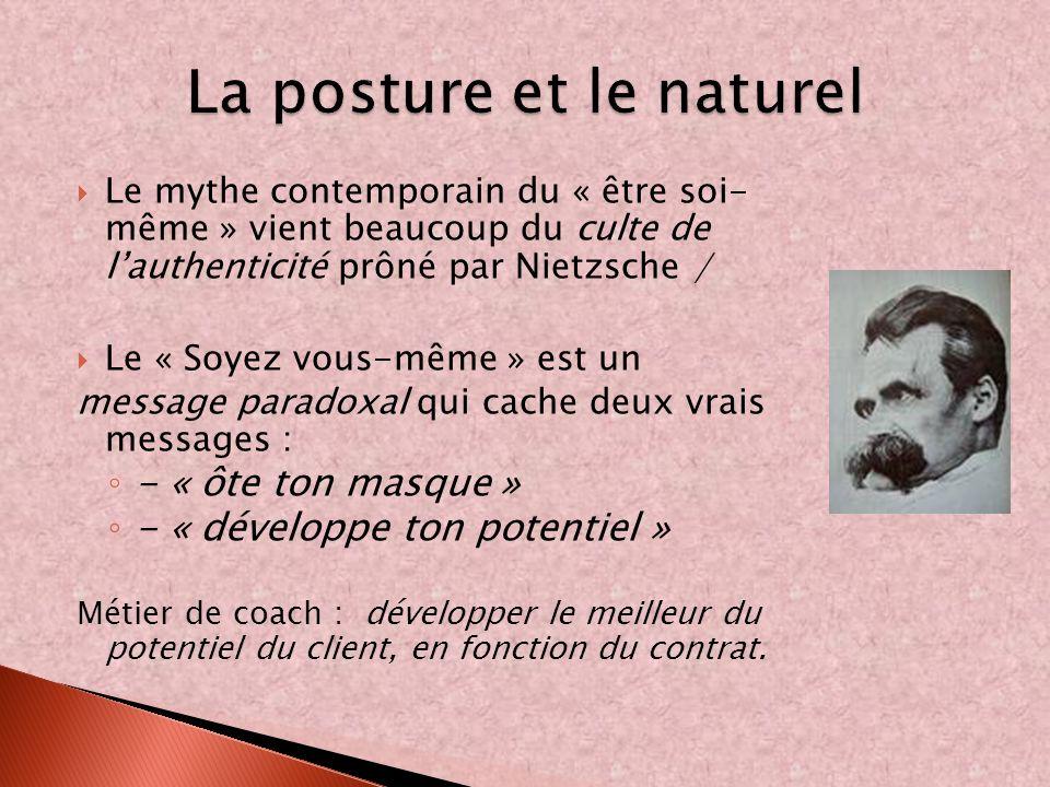 La posture et le naturel