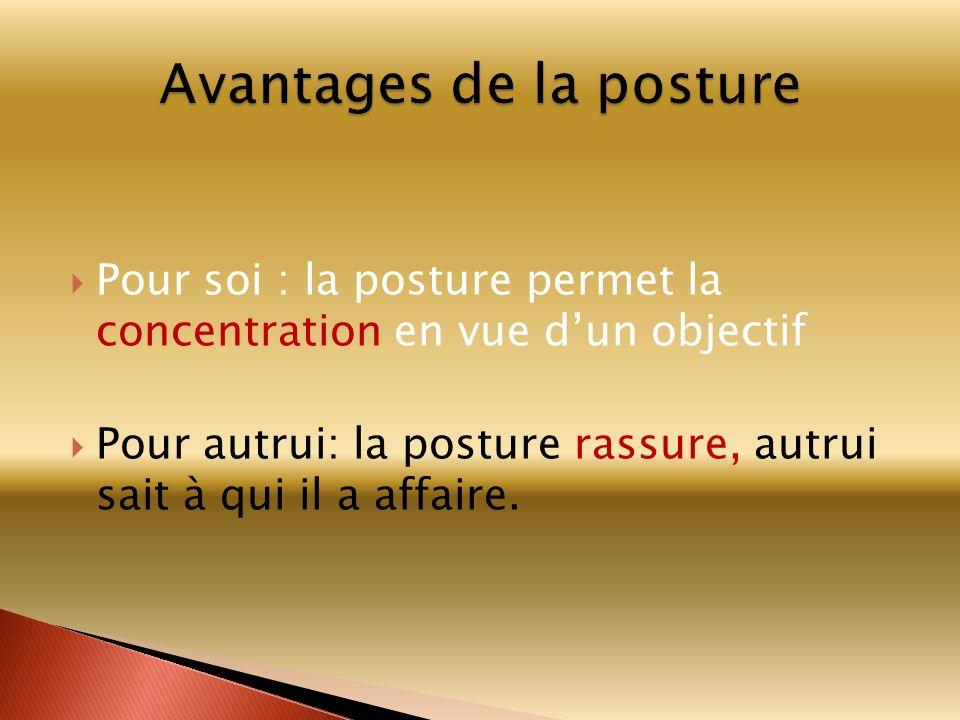 Avantages de la posture