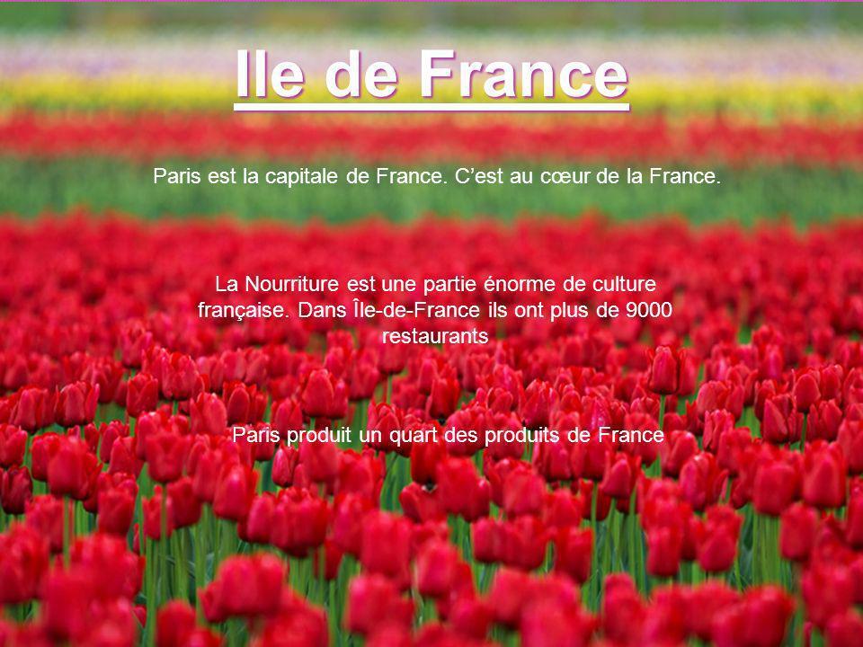 Ile de France Paris est la capitale de France. C'est au cœur de la France.