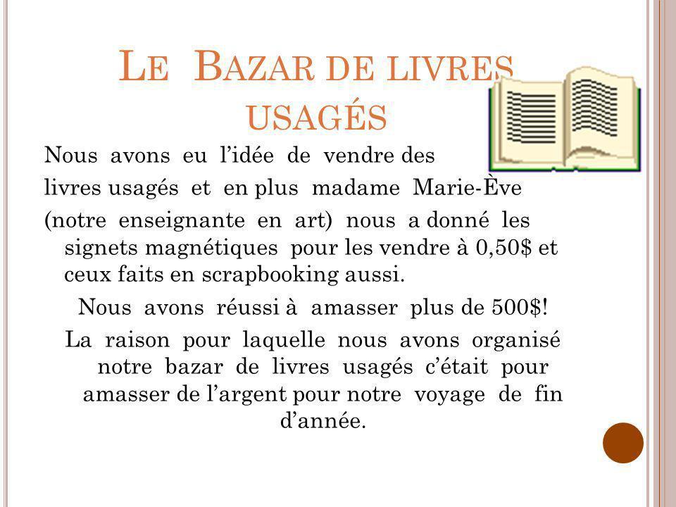 Le Bazar de livres usagés