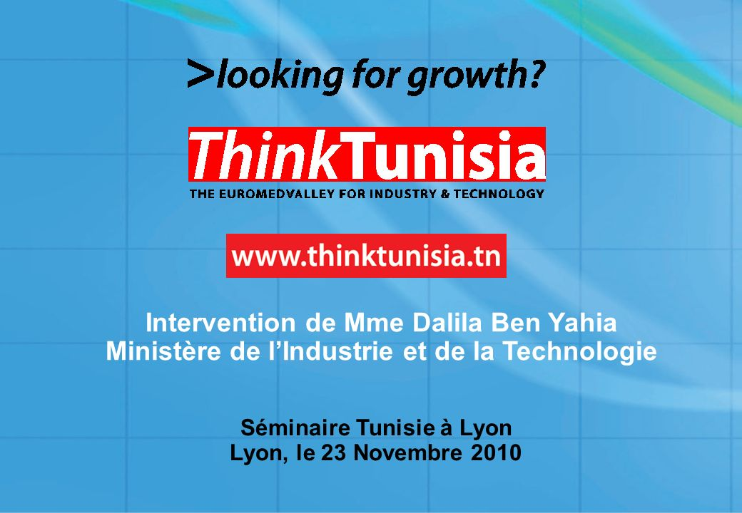 Séminaire Tunisie à Lyon