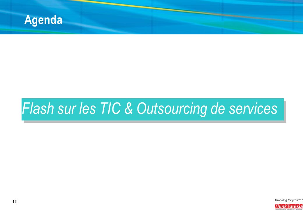 Flash sur les TIC & Outsourcing de services