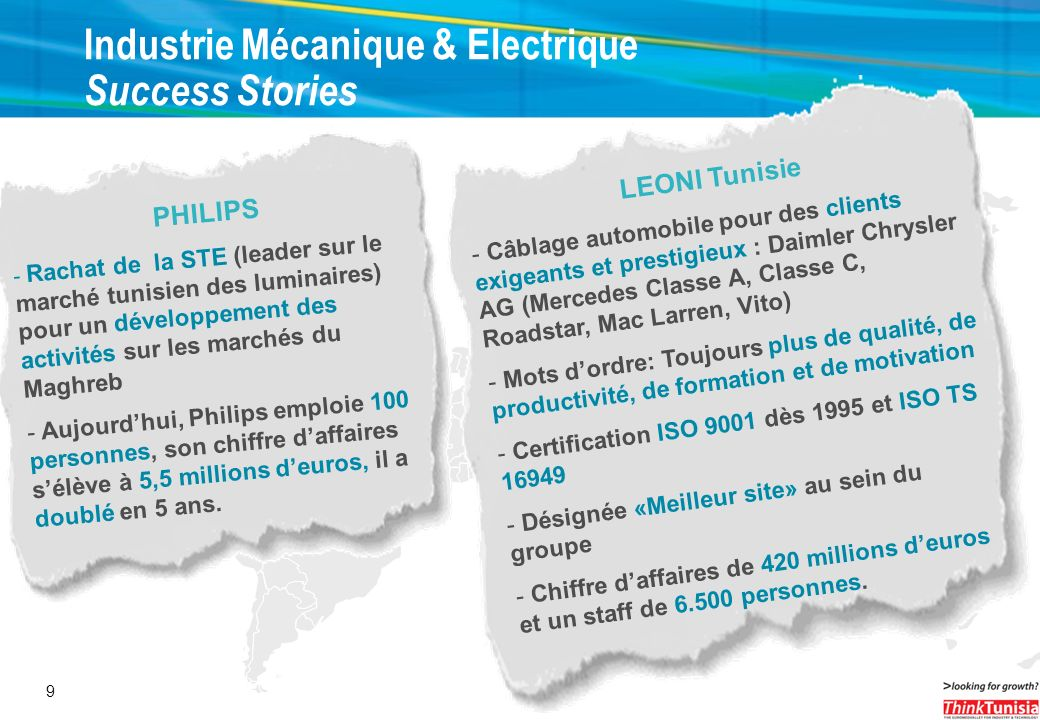 Industrie Mécanique & Electrique Success Stories