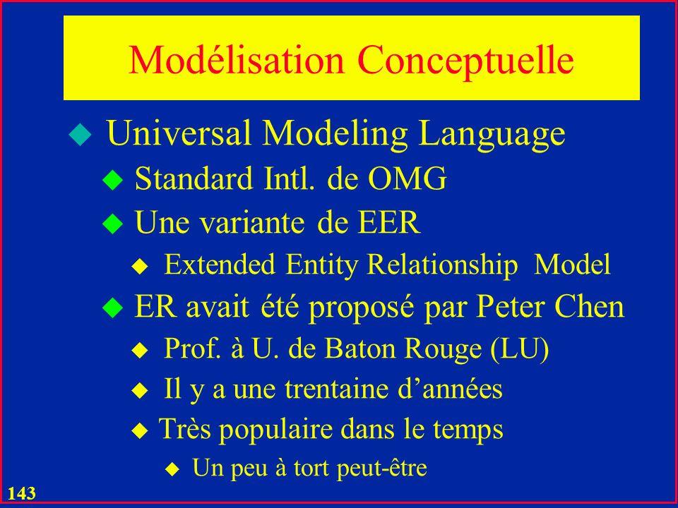Modélisation Conceptuelle