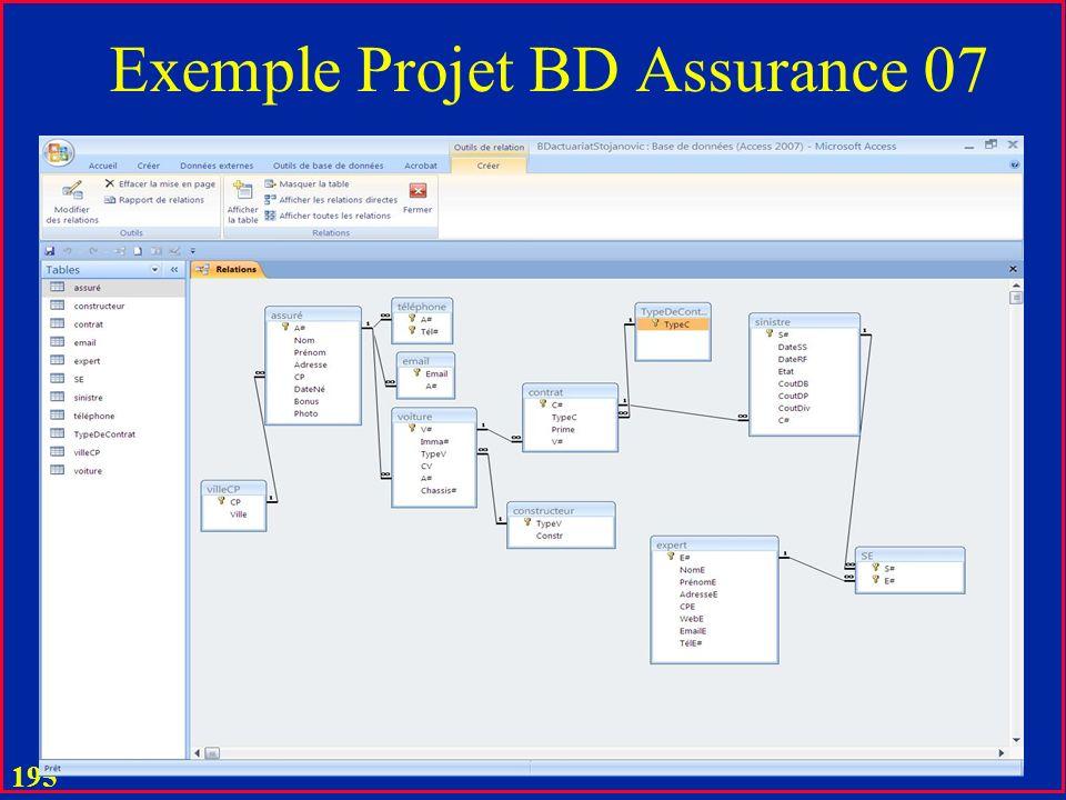 Exemple Projet BD Assurance 07