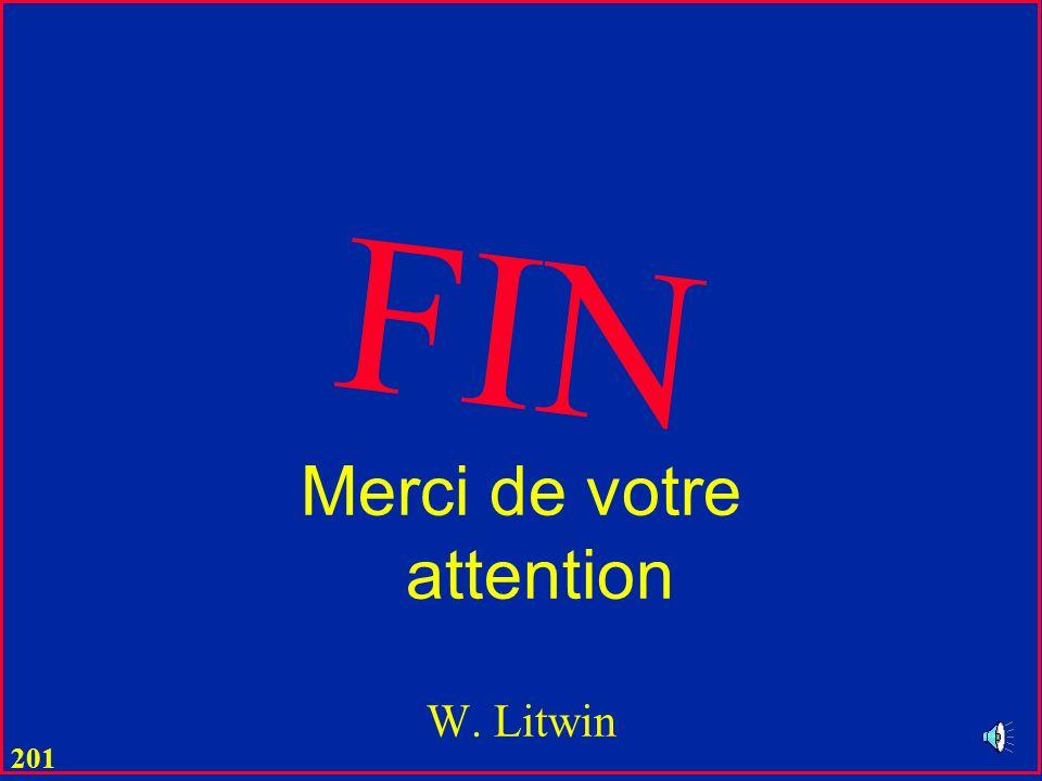 Merci de votre attention W. Litwin