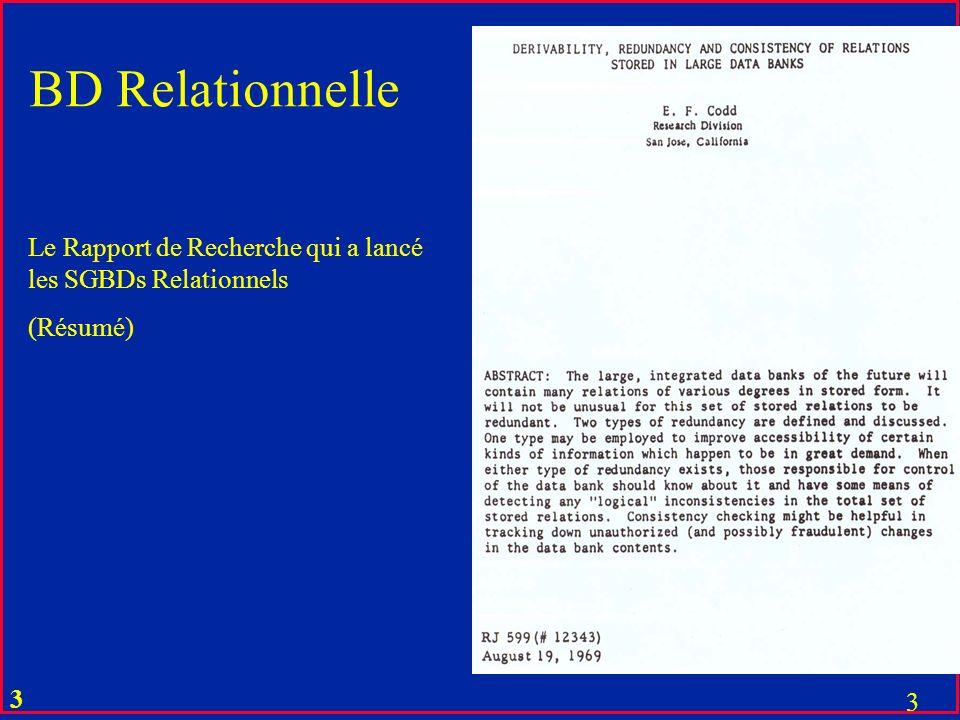 BD Relationnelle Le Rapport de Recherche qui a lancé les SGBDs Relationnels (Résumé)