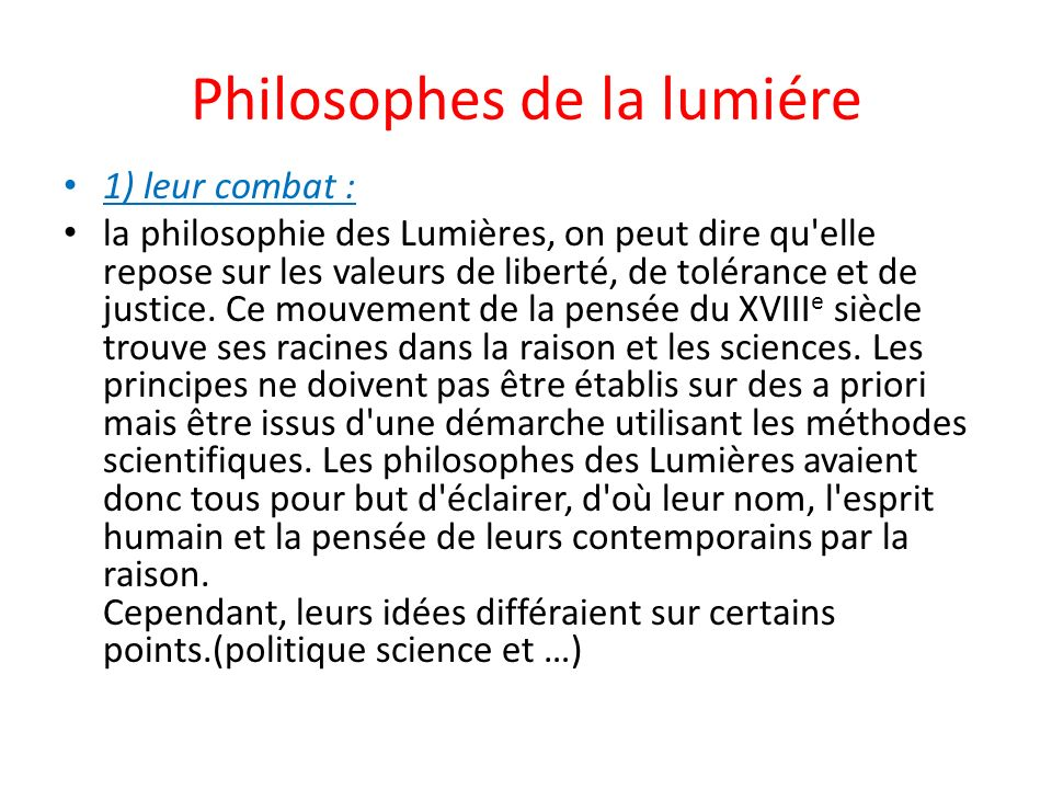 Philosophes de la lumiére