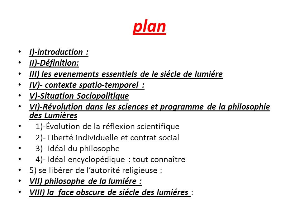 plan I)-introduction : II)-Définition: