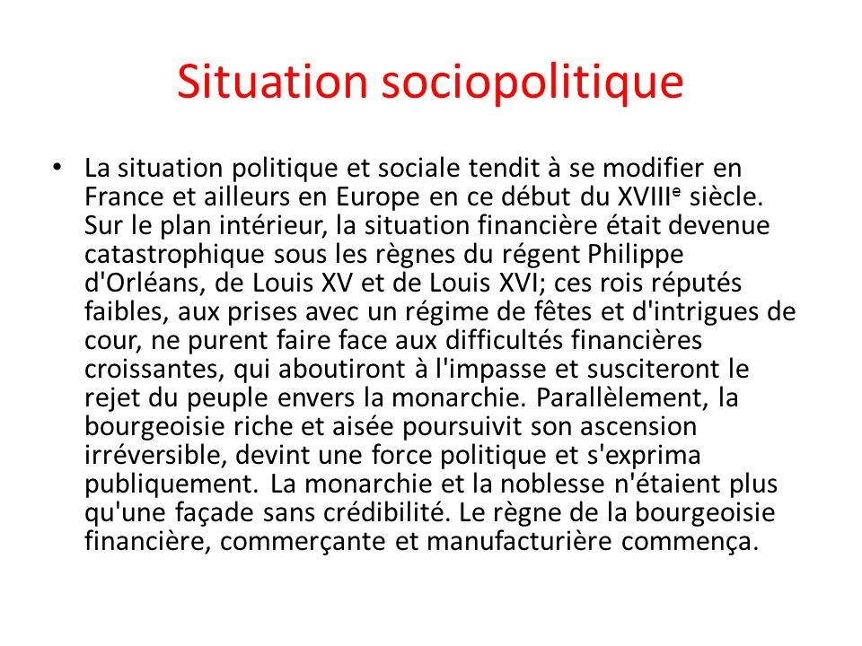 Situation sociopolitique