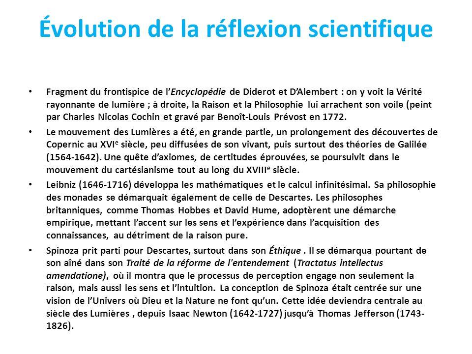 Évolution de la réflexion scientifique