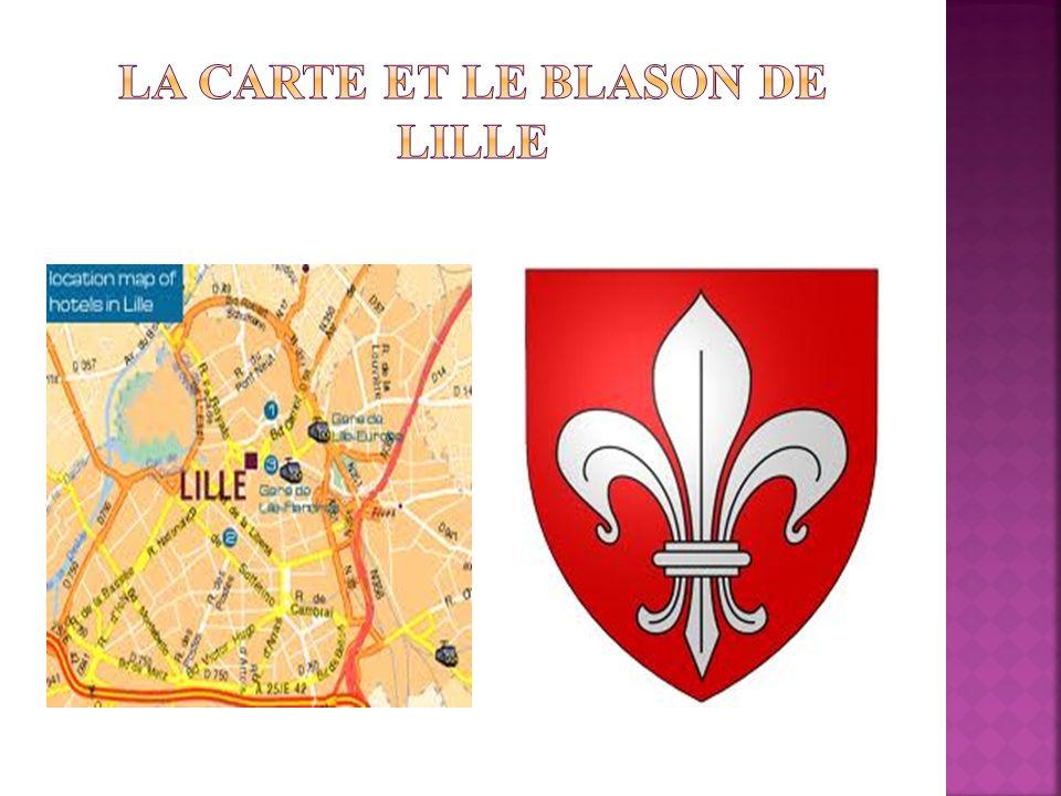 La carte et le blason de Lille
