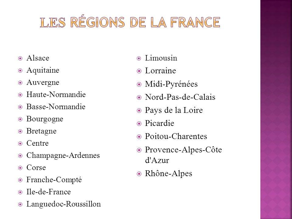 Les régions de la France