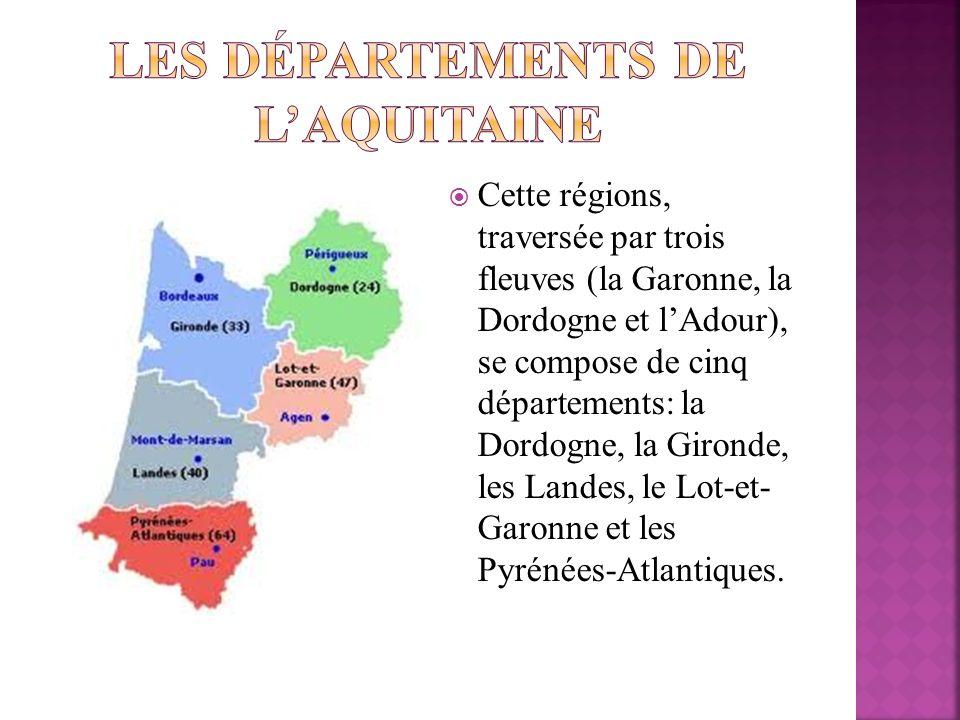 Les départements de l'Aquitaine