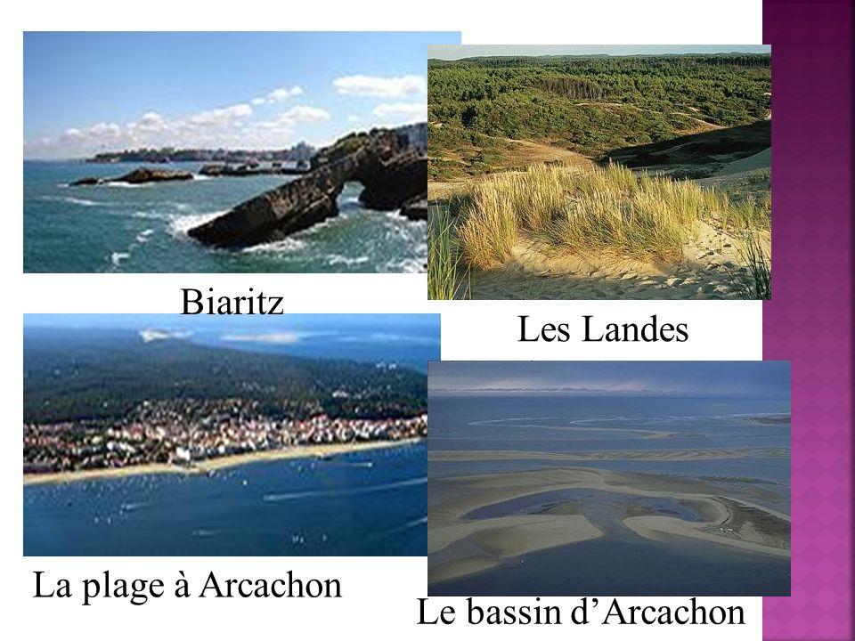 Biaritz Les Landes La plage à Arcachon Le bassin d'Arcachon