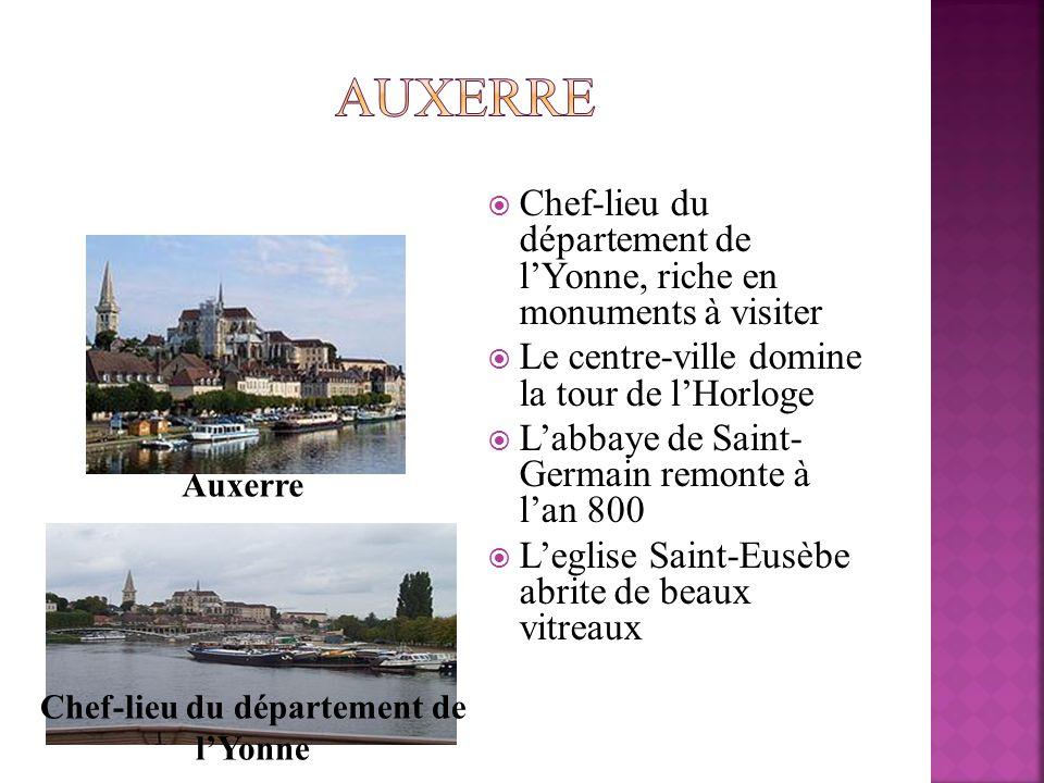 Chef-lieu du département de l'Yonne