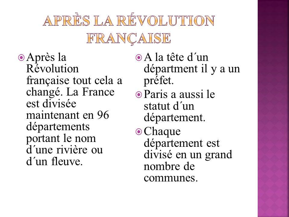 Après la Révolution française