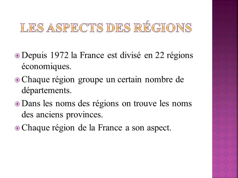Les aspects des régions
