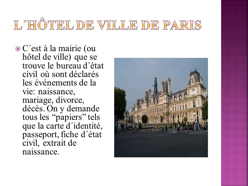 L΄Hôtel de ville de Paris
