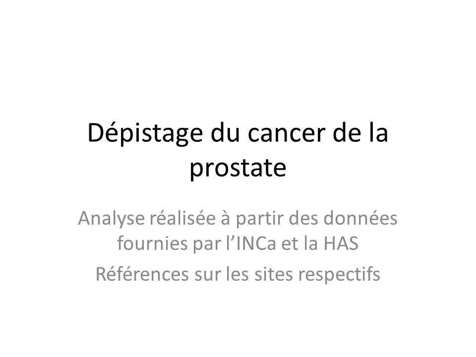 Dépistage du cancer de la prostate