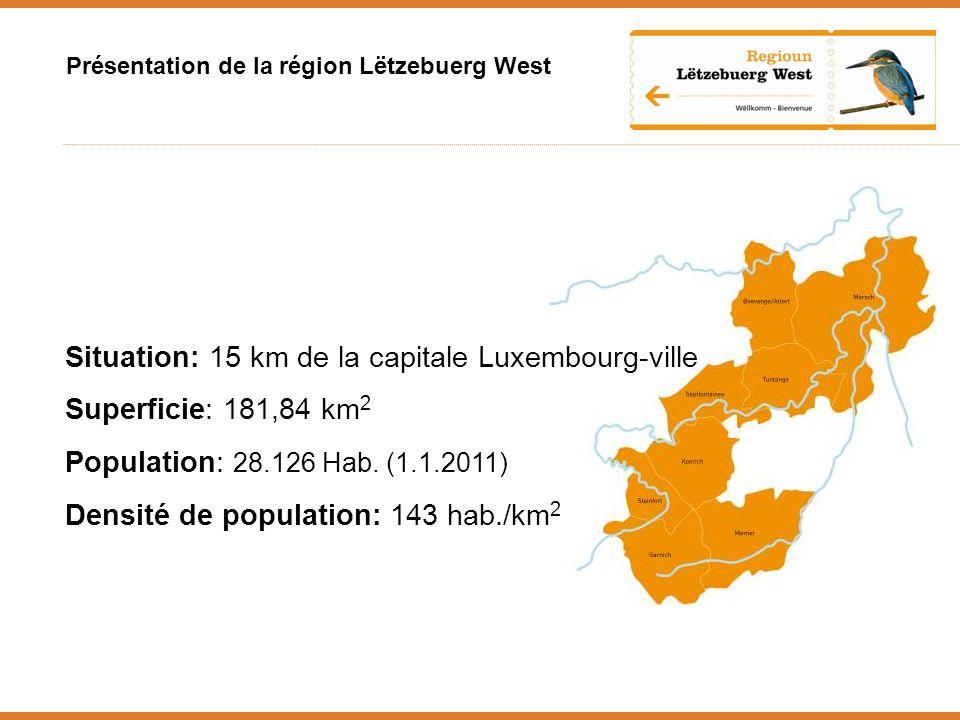 Situation: 15 km de la capitale Luxembourg-ville