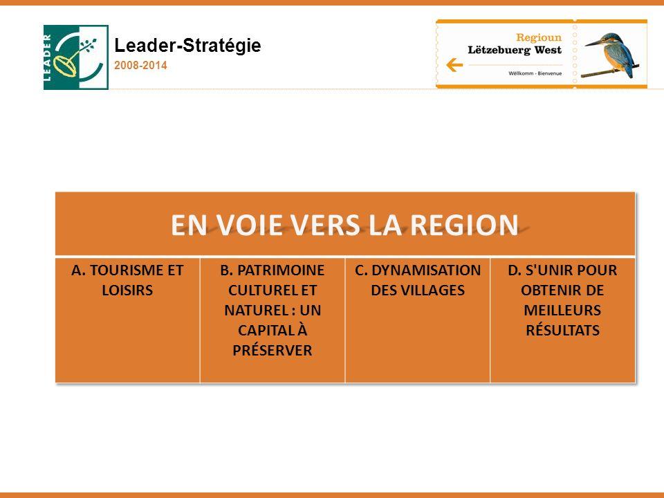 EN VOIE VERS LA REGION Leader-Stratégie A. Tourisme et loisirs