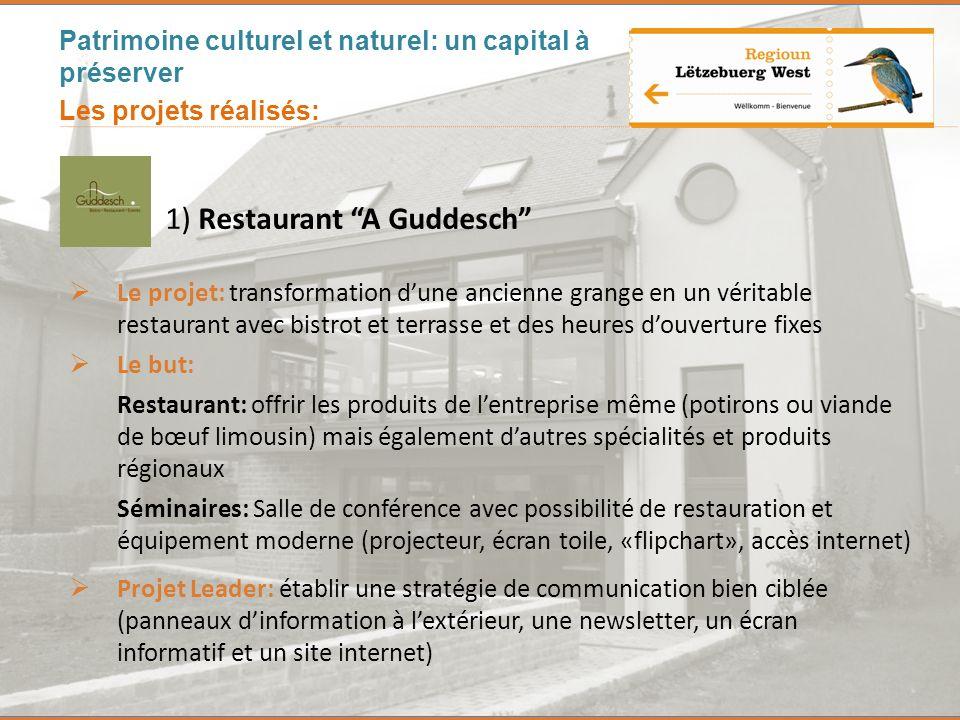1) Restaurant A Guddesch