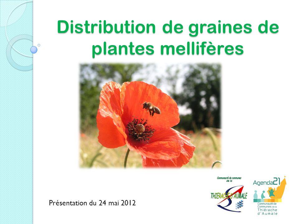 Distribution de graines de plantes mellifères