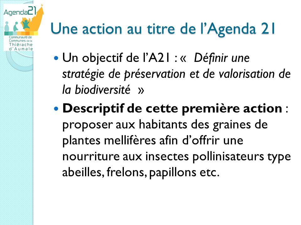 Une action au titre de l'Agenda 21