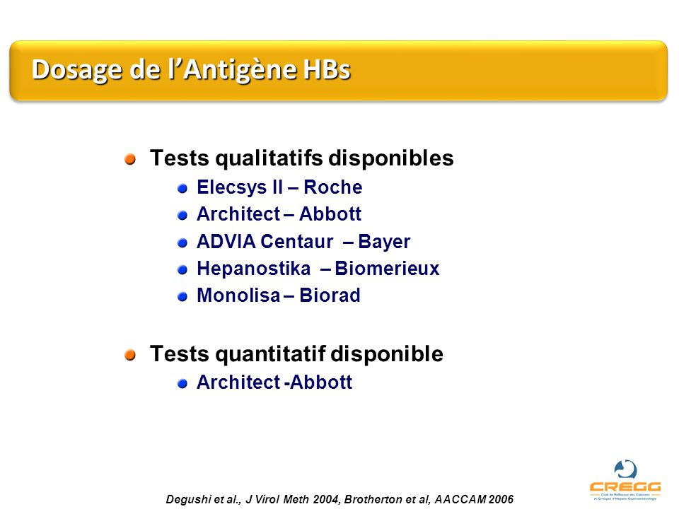 Dosage de l'Antigène HBs