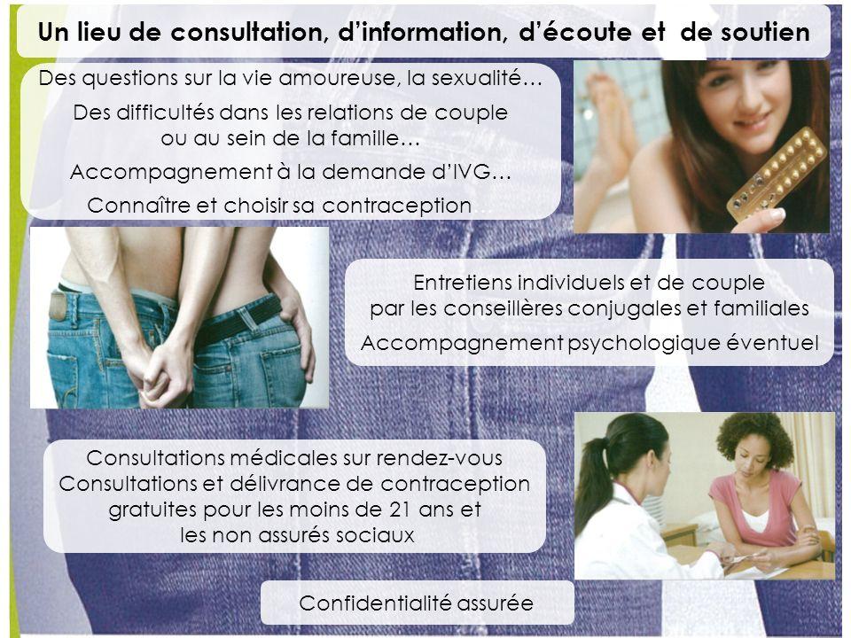 Un lieu de consultation, d'information, d'écoute et de soutien