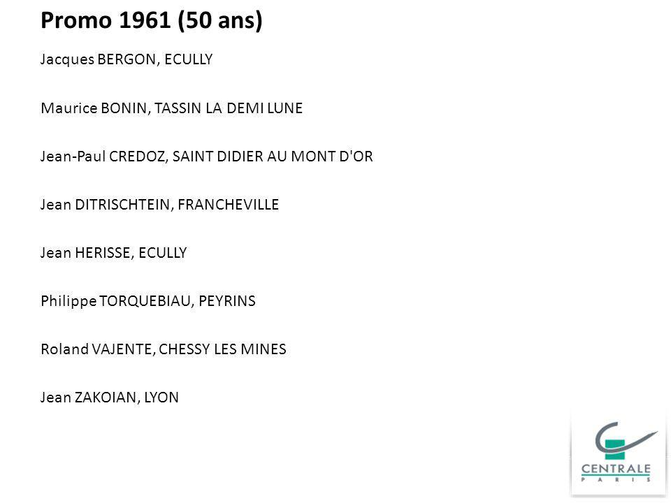 Promo 1961 (50 ans)