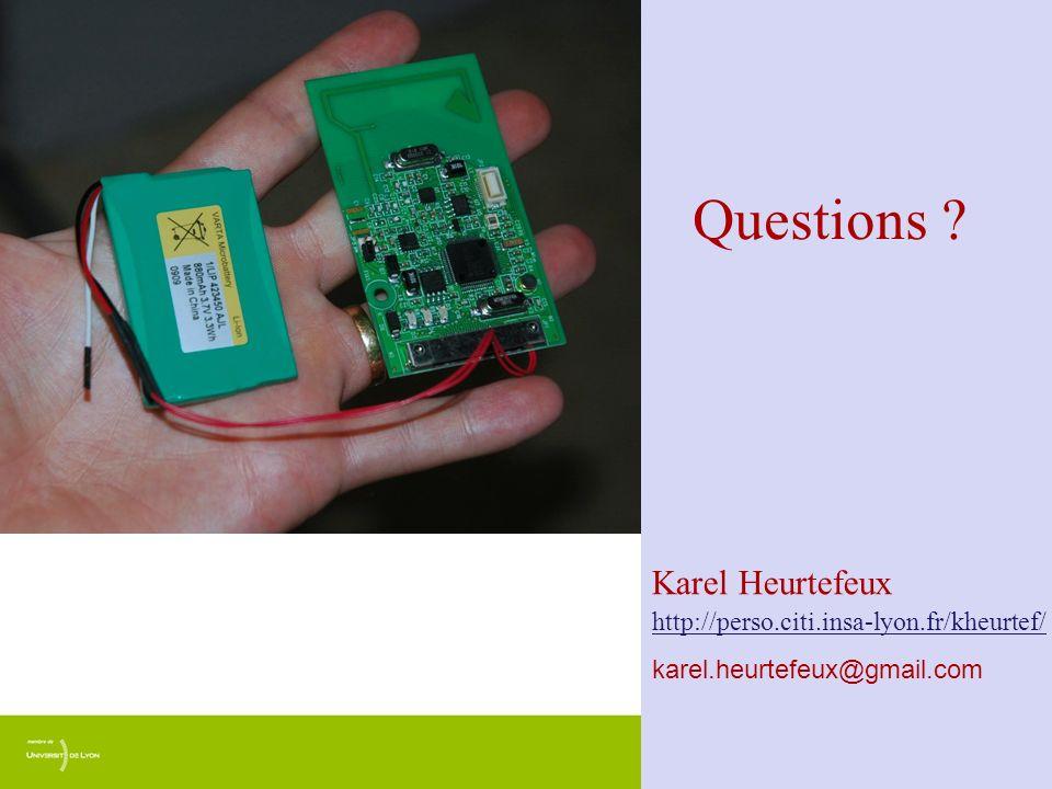Questions Karel Heurtefeux http://perso.citi.insa-lyon.fr/kheurtef/