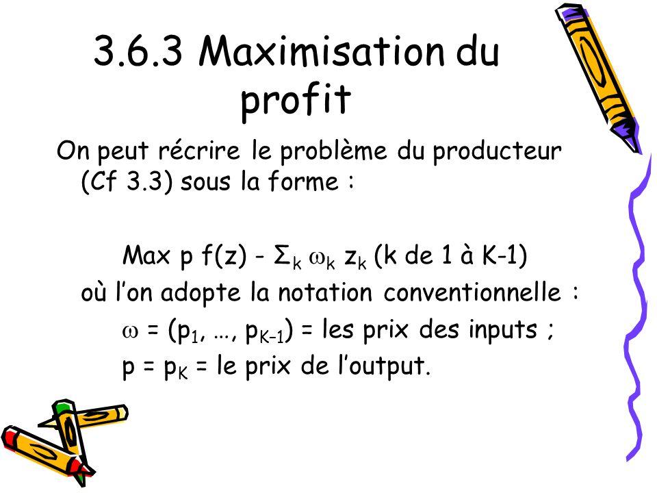 3.6.3 Maximisation du profit